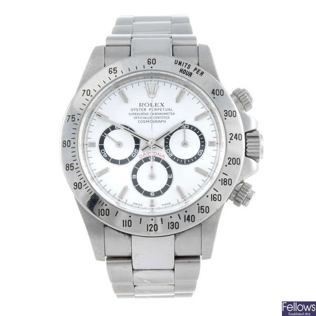 (176238) ROLEX - a gentleman's stainless steel Oyster Perpetual Cosmograph Daytona bracelet watch.