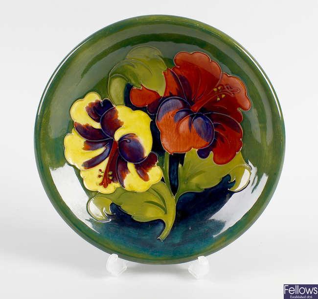 A Walter Moorcroft pottery dish