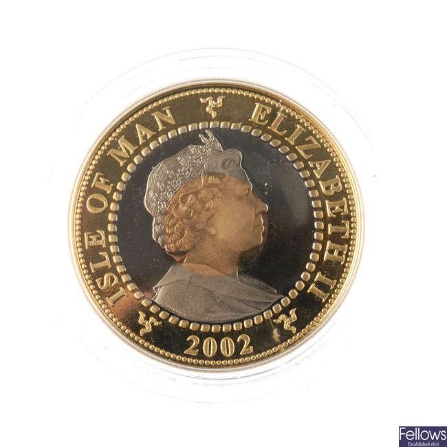 Isle of Man, Elizabeth II, gold Crown 2002.