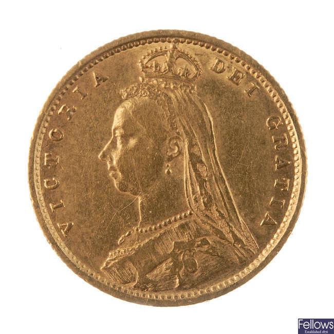 Victoria, Half-Sovereign 1890.