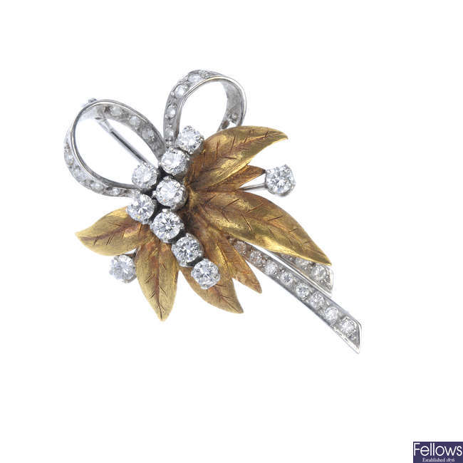 A 1970s diamond brooch.