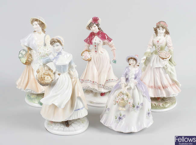 A group of Royal Worcester figurines