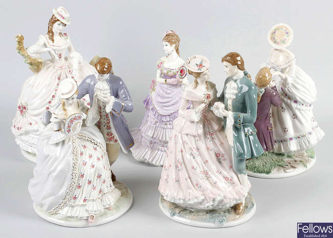 A group of six Royal Worcester figurines