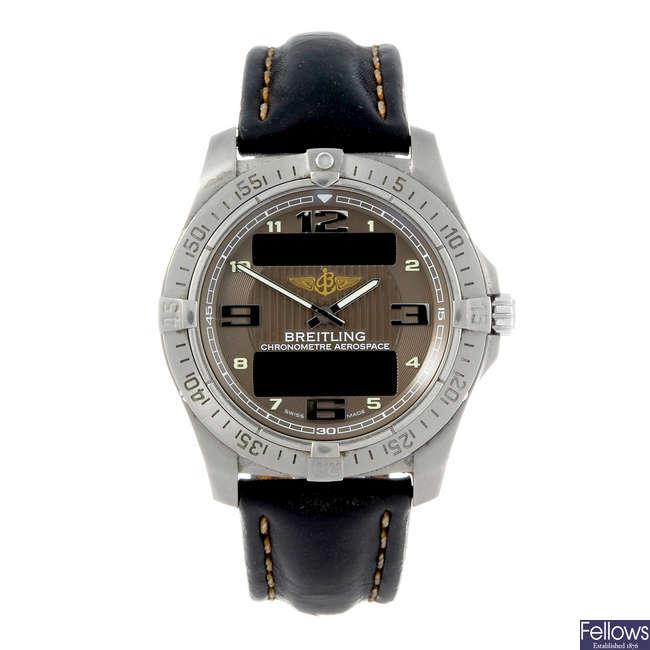 (168574) BREITLING - a gentleman's titanium Professional Aerospace Avantage wrist watch.