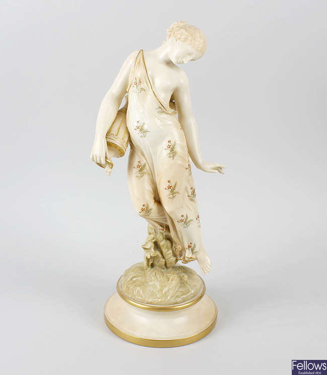 A Royal Worcester blush ivory figure