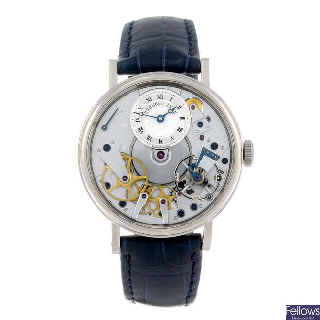 BREGUET - a gentleman's 18ct white gold Tradition 7037 wrist watch.