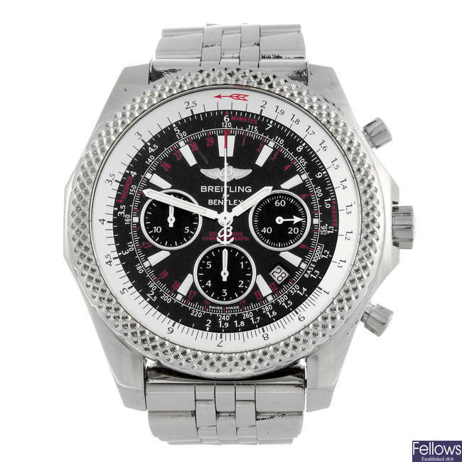 BREITLING - a gentleman's stainless steel Breitling for Bentley Motor Speed bracelet watch