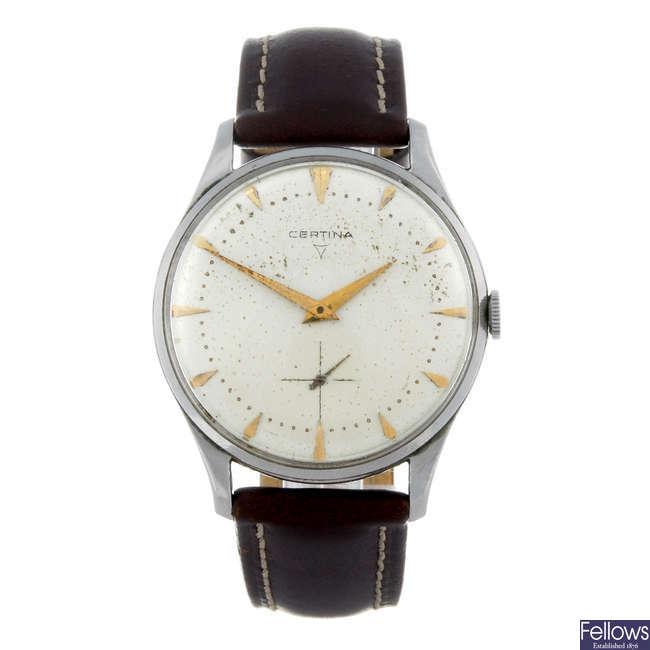 CERTINA - a gentleman's stainless steel wrist watch with another Certina wrist watch.