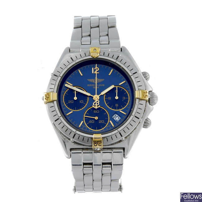 BREITLING - a gentleman's stainless steel Windrider Chrono Sextent chronograph bracelet watch.