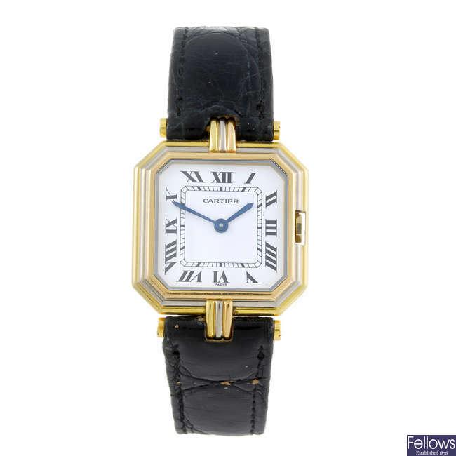 CARTIER - a yellow metal Ceinture wrist watch.