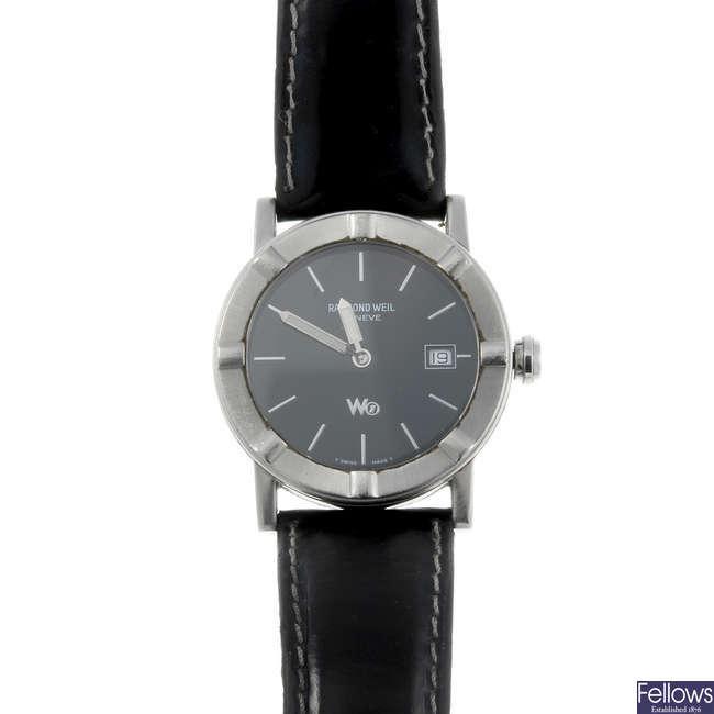 RAYMOND WEIL - a gentleman's stainless steel W1 wrist watch.