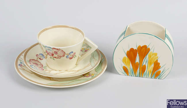 A selection of Clarice Cliff ceramics