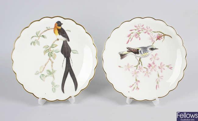Eight Royal Worcester bone china