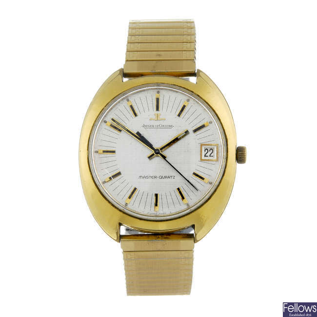 JAEGER-LECOULTRE - a gentleman's gold plated Master-Quartz bracelet watch.