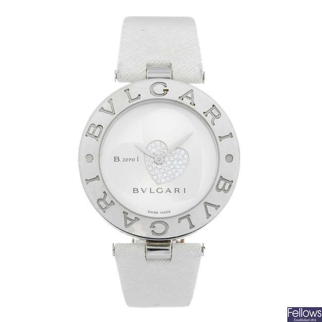 BULGARI - a lady's stainless steel B.zero1 wrist watch.