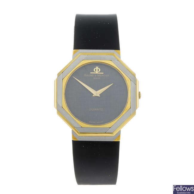 BAUME & MERCIER - a lady's bi-colour wrist watch.