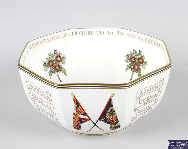 A Wedgwood Light Infantry commemorative bowl