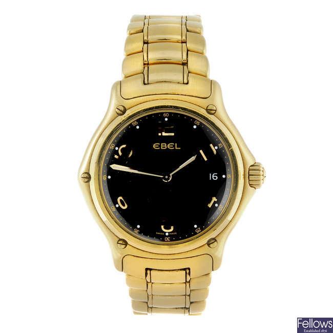 (6000899-1-A) EBEL - a gentleman's 18ct yellow gold 1911 bracelet watch.