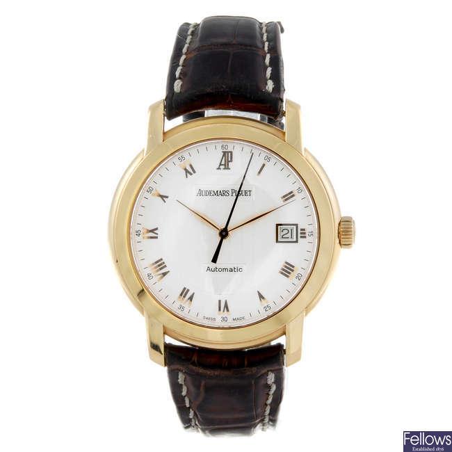 AUDEMARS PIGUET - a gentleman's 18ct yellow gold Jules Audemars wrist watch.
