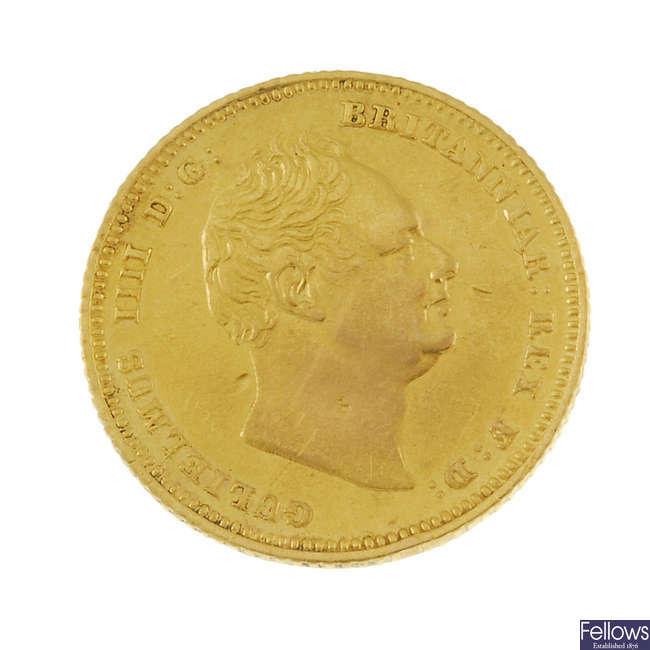 William IV, Half-Sovereign 1837.