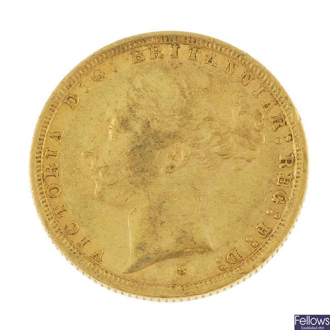 Victoria, Sovereign 1887S.