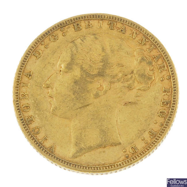 Victoria, Sovereign 1876.