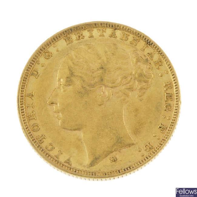 Victoria, Sovereign 1879M.