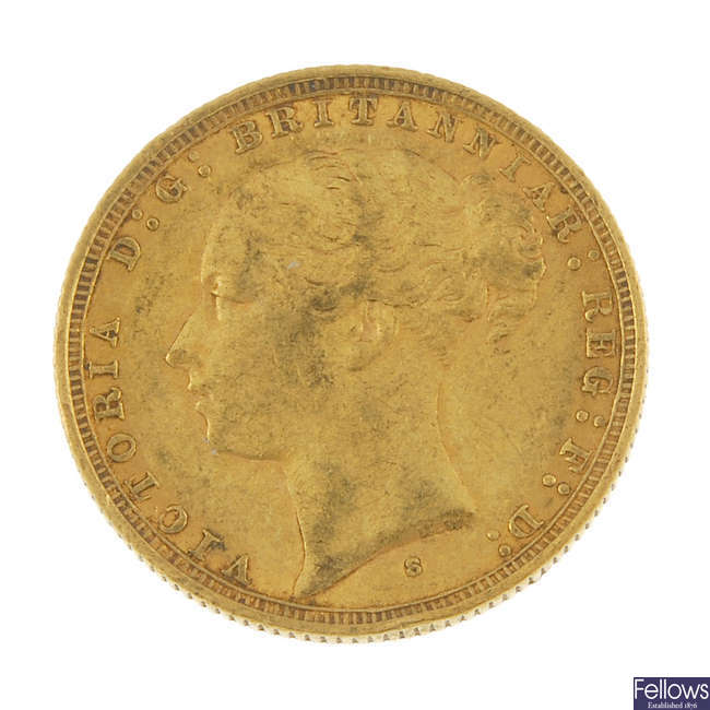 Victoria, Sovereign 1884S.