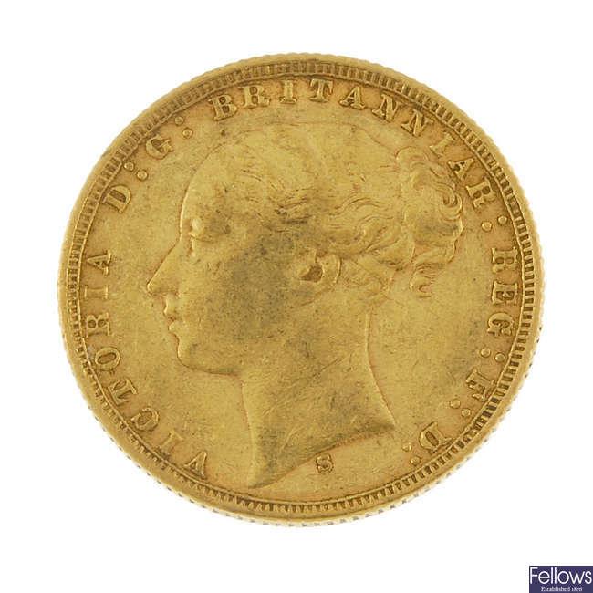 Victoria, Sovereign 1876S.
