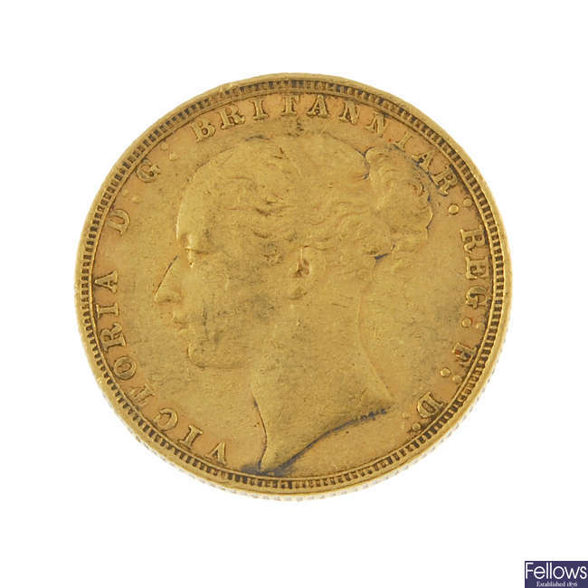 Victoria, Sovereign 1885.