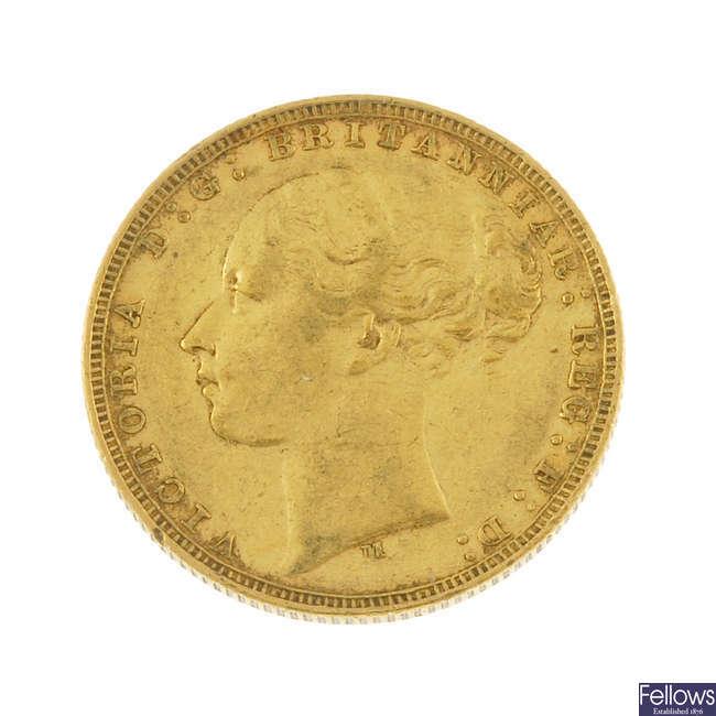 Victoria, Sovereign 1878M.