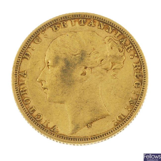 Victorian, Sovereign 1876S.