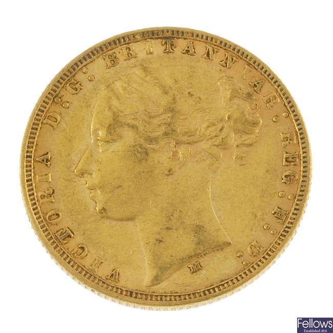 Victoria, Sovereign 1875M.