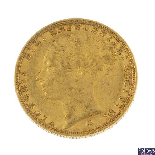 Victoria, Sovereign 1884M.