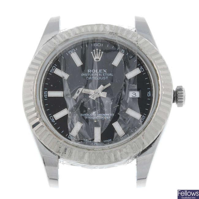 ROLEX - a gentleman's bi-metal Oyster Perpetual Datejust II bracelet watch.
