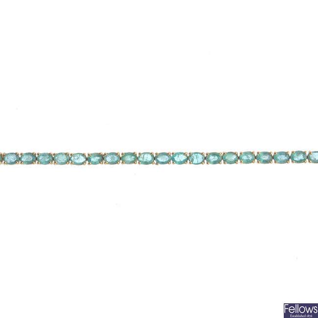 An emerald bracelet.