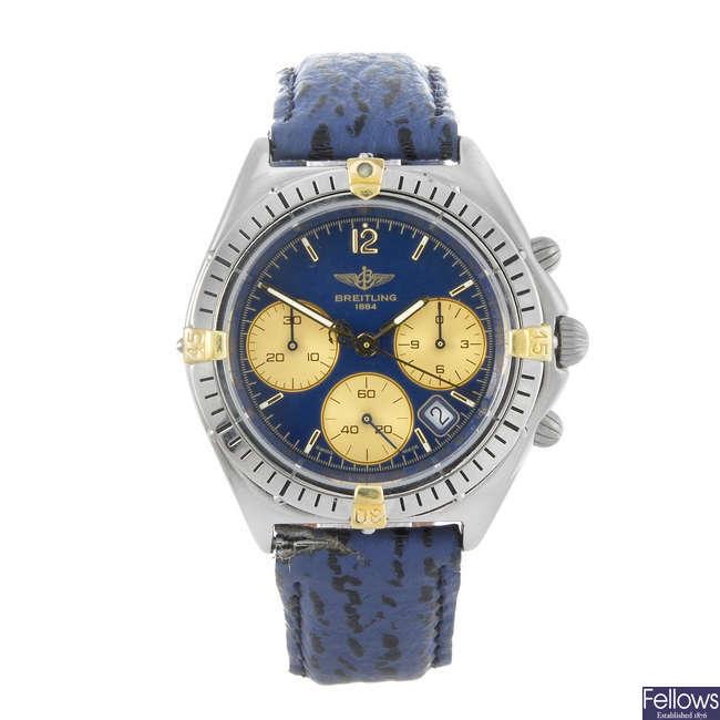 BREITLING - a gentleman's bi-metal Windrider Sextant chronograph wrist watch.