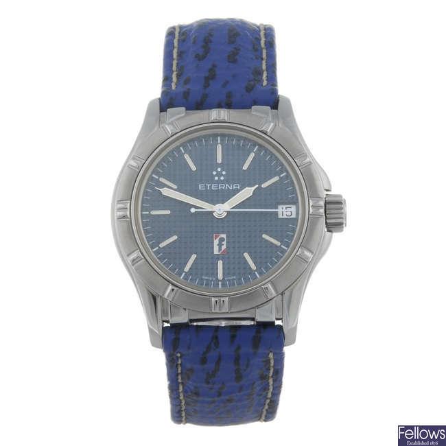 ETERNA - a gentleman's stainless steel wrist watch.