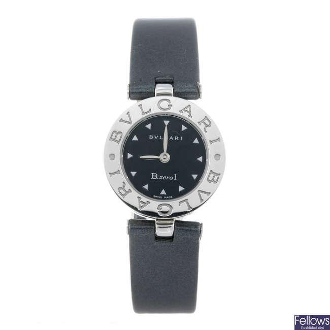 BULGARI - a lady's stainless steel B.zero1 wrist watch.