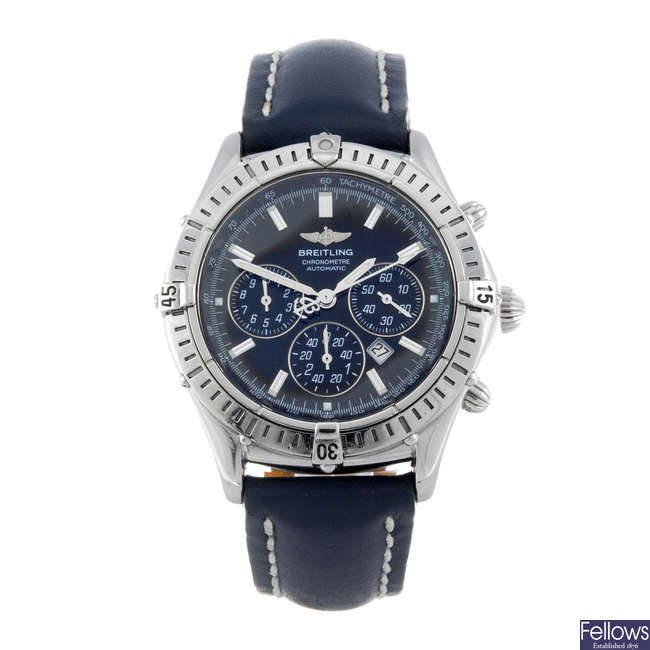 BREITLING - a gentleman's stainless steel Windrider Shadow Flyback chronograph wrist watch.