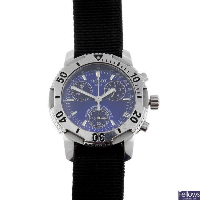 TISSOT - a gentleman's stainless steel PRS-200 chronograph wrist watch.
