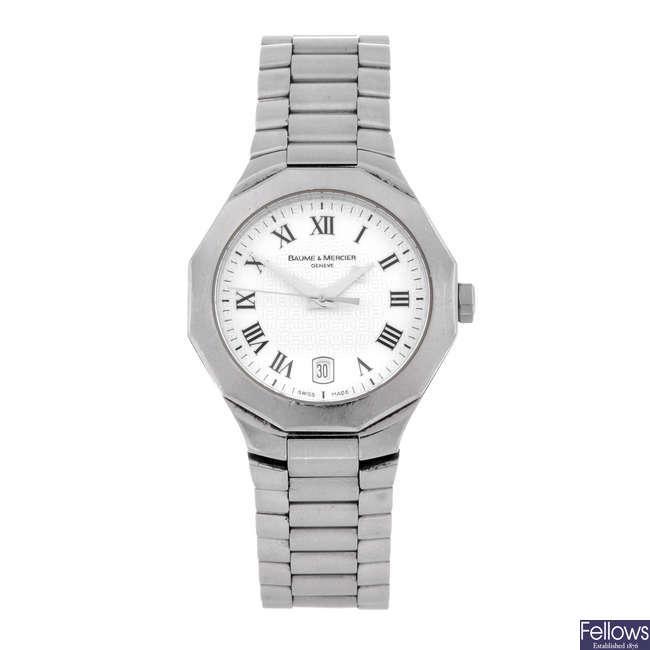 BAUME & MERCIER - a lady's stainless steel Riviera bracelet watch.