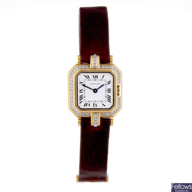 CARTIER - an 18ct yellow gold Ceinture wrist watch.