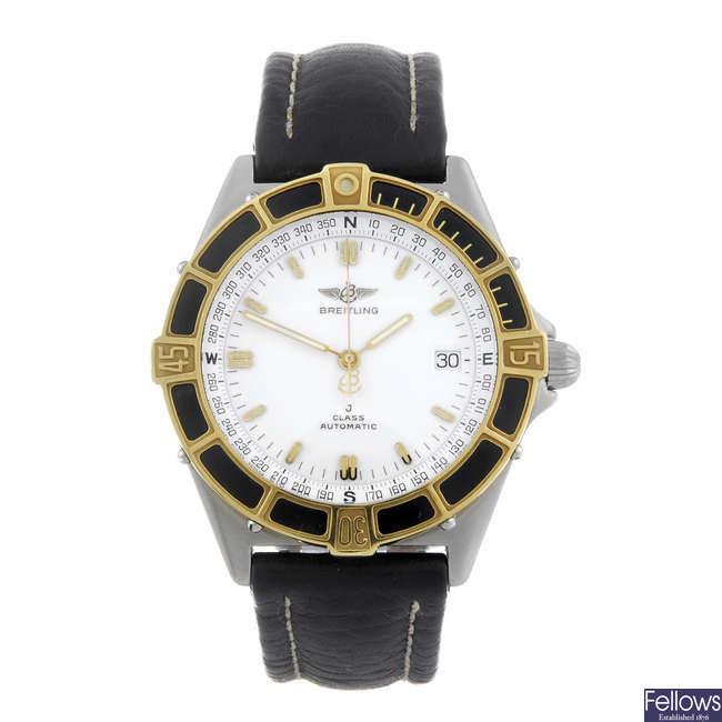 BREITLING - a gentleman's bi-colour Windrider J Class wrist watch.
