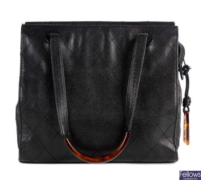 CHANEL - a caviar leather handbag.