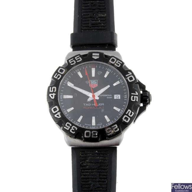 TAG HEUER - a gentleman's stainless steel Formula 1 wrist watch.