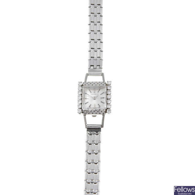 JAEGER-LECOULTRE - a lady's stainless steel cocktail watch.