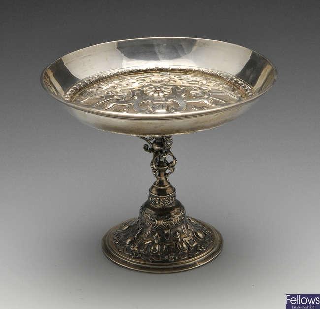 A mid-Victorian silver tazza.