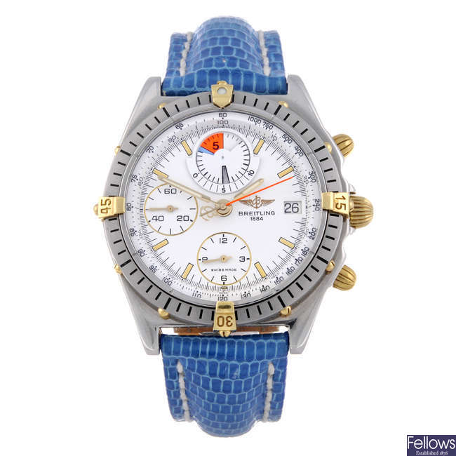 BREITLING - a gentleman's stainless steel Chronomat Yachting chronograph wrist watch.