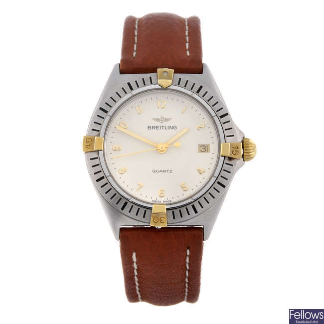 BREITLING - a mid-size stainless steel Callisto wrist watch.